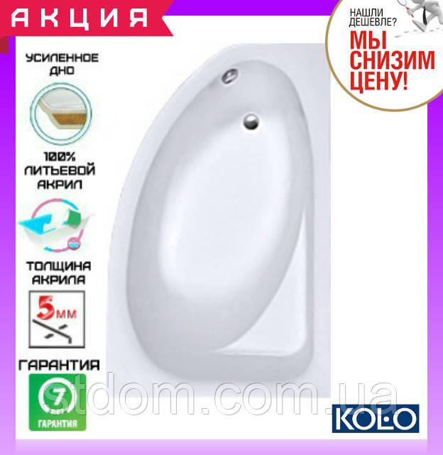 Акриловая асимметричная ванна 170x100 см Kolo Spring XWA3070000 правая