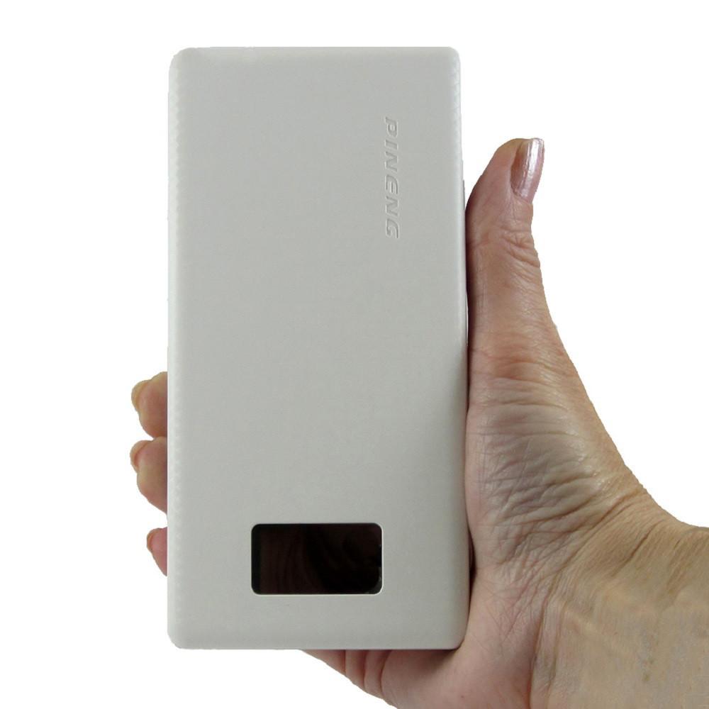 Pineng power bank PN-963 10000мАһ Ємність реальна! Оригінал з LCD дисплеєм. Білий