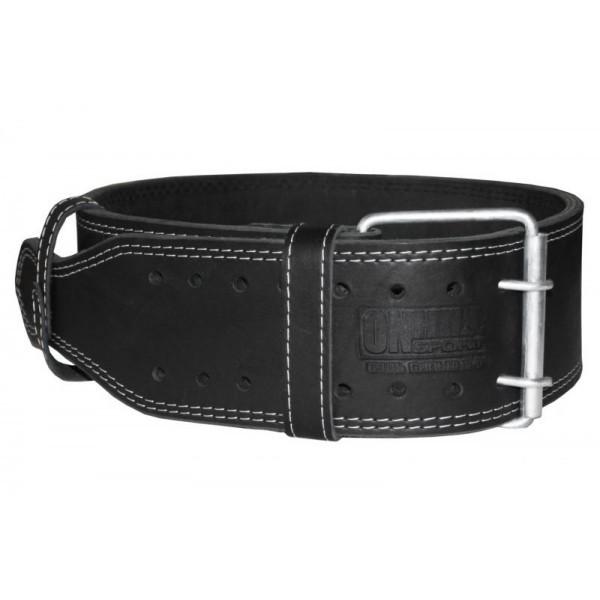 Пояс для пауэрлифтинга кожаный, 3 слоя Onhillsport XL (90-110 см) (OS-0315-4)