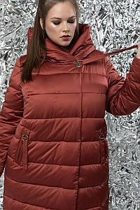 Пуховик прямого кроя женский, большого размера ( 50,58 )  М-773 Осень/зима 2019/20.