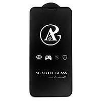 Матовое защитное стекло AG Matte Full Glue для Apple iPhone X / iPhone XS Черный