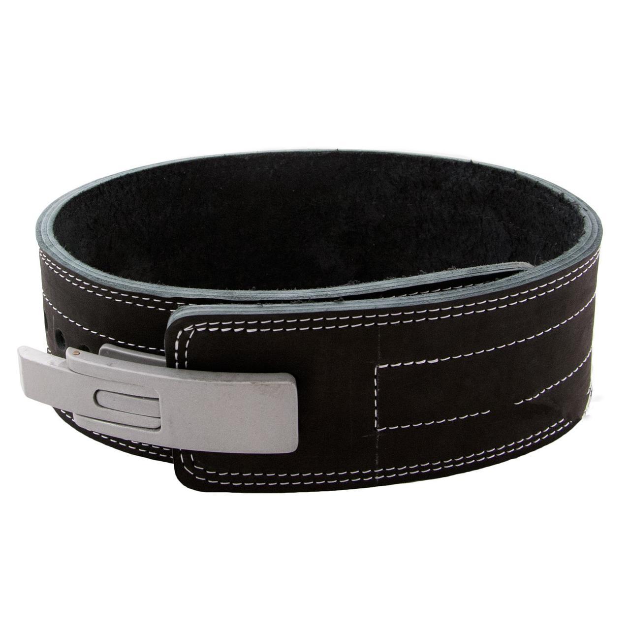 Пояс для пауэрлифтинга (штангиста) с карабином кожаный, 3 слоя Onhillsport (OS-0401)