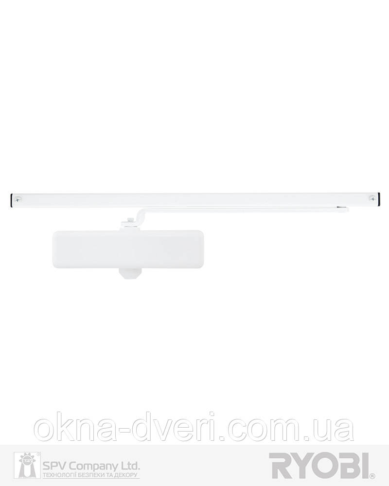 Функциональный доводчик накладного типа RYOBI *8800 S-8850T GLOSSY_WHITE SLD_HO_ARM EN_2 45кг 900мм