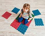 Детский массажный коврик пазл для стоп (ортопедический, резиновый) Onhillsport 8 шт (MS-1209-3), фото 2