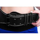 Пояс атлетический однослойный кожаный Onhillsport размер XXL (OS-0402-5), фото 3