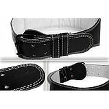 Пояс атлетический двухслойный кожаный Onhillsport размер L (OS-0403-3), фото 2