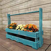 Кашпо для цветов в сад деревянное