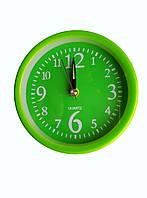 Будильник кварцевый круглый зеленый
