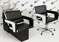 Кресло-мойка для парикмахерской на прочном основании- Cheap Flamingo керамика Китай