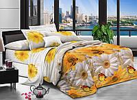 Двуспальный комплект постельного белья евро 200*220 хлопок  (13036) TM KRISPOL Украина