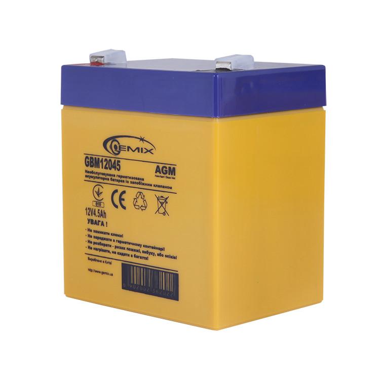 Аккумулятор для ИБП 12В 4,5Ач Gemix GBM12045 90х70х101 мм