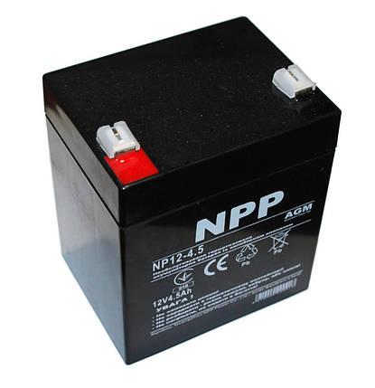 Аккумулятор для ИБП 12В 4,5Ач NPP NP12-4.5 90х70х101 мм, фото 2