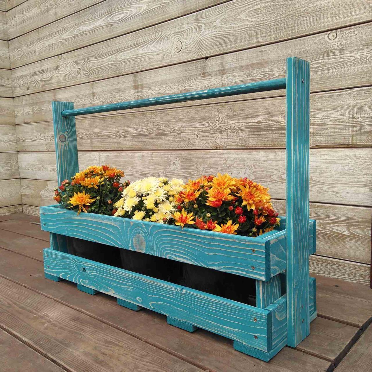 Уличные деревянные кашпо для цветов