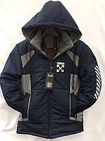 """Куртка юниор зимняя L&K на мальчика с мехом, размеры 40-48 (3цв) """"KING"""" недорого от прямого поставщика"""