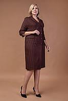 Красивое платье в деловом стиле двубортное