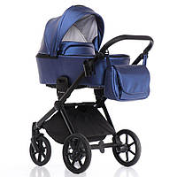 Детская коляска 2 в 1 Invictus V-Dream Lux Blue Black, фото 1