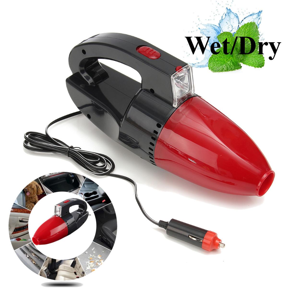 Автомобильный пылесос Vacuum cleaner 60w с фонарем