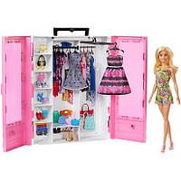 Игровой набор шкаф чемодан гардероб с куклой Барби Barbie GBK12, фото 1