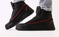 Ботинки мужские зимние черные из натуральной кожи, фото 1