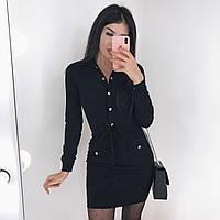Платье женское стильное чёрное, бордо