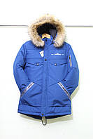 """Куртка-парка зимняя Off-White на мальчика, размеры 40-48 (5 цв) """"KING"""" недорого от прямого поставщика"""