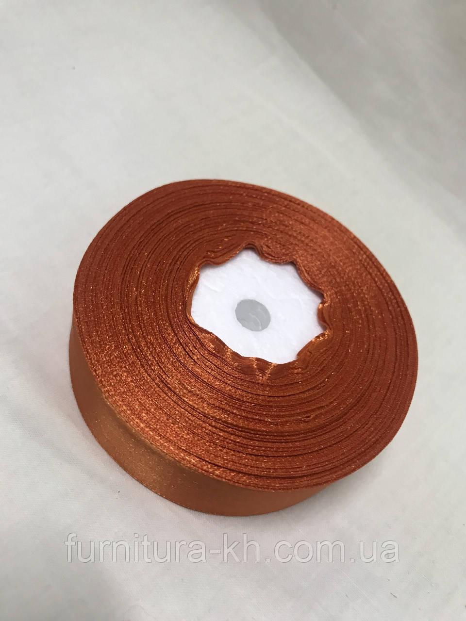 Лента атласная,ширина 2,5 см  (33 м ) цвет Темный Оранжевый