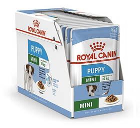 Влажный корм для щенков Royal Canin Mini Puppy для малых пород блок 85 г*12 шт.
