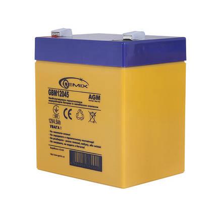 Аккумулятор для ИБП 12В 4,5Ач Gemix GBM12045 90х70х101 мм, фото 2