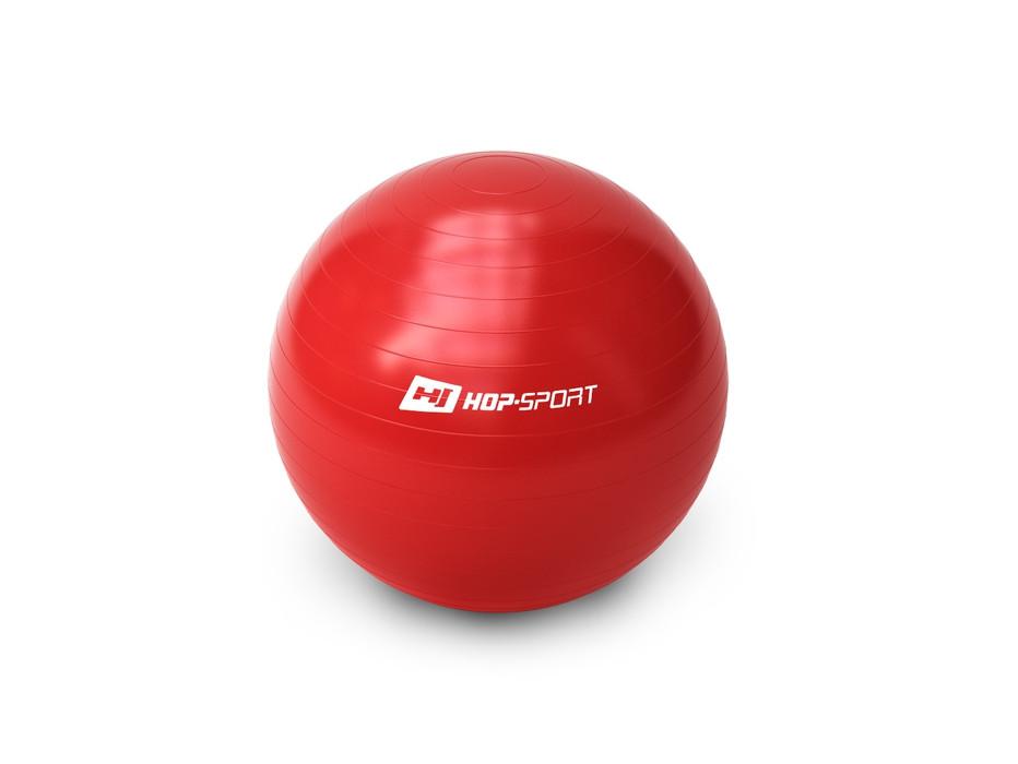 М'яч для фітнесу (фітбол) 65см з насосом Hop-Sport (GYM BALL 65) Червоний