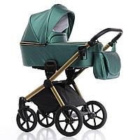 Дитяча коляска 2 в 1 Invictus V-Dream Lux Green Gold