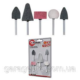 Набор шлифовальных камней 5шт INTERTOOL BT-0015