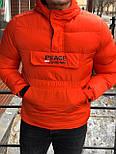 😜 Куртка - Мужскаяя куртка-анорак зима оранжевого цвета, фото 3