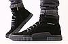 Ботинки зимние мужские черные из нубука
