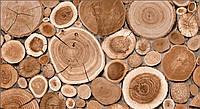 Обои влагостойкие мойка Слайс 146-10 коричневое дерево