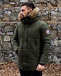 😜 Пуховик - мужская зимняя куртка-пуховик цвета хаки, фото 3