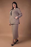 Классический деловой костюм из трикотажа-елочка