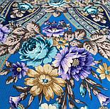 Финифть 341-14, павлопосадский платок (шаль) из уплотненной шерсти с шелковой вязанной бахромой, фото 3