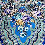 Финифть 341-14, павлопосадский платок (шаль) из уплотненной шерсти с шелковой вязанной бахромой, фото 8