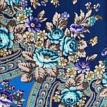 Финифть 341-14, павлопосадский платок (шаль) из уплотненной шерсти с шелковой вязанной бахромой, фото 9