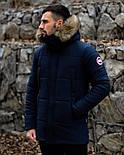 😜 Пуховик - мужская зимняя куртка-пуховик (цвет синий), фото 2