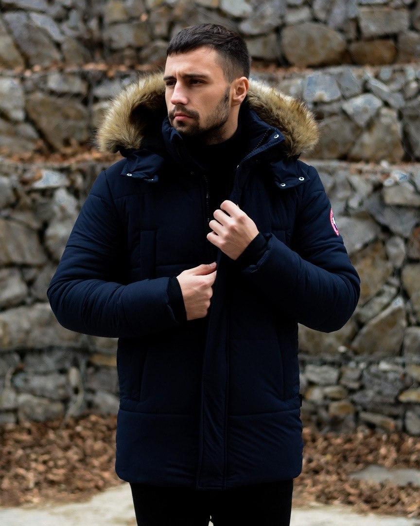 😜 Пуховик - мужская зимняя куртка-пуховик (цвет синий)