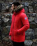 😜 Пуховик - мужская зимняя куртка-пуховик (цвет красный), фото 3