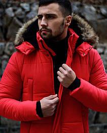 😜 Пуховик - мужская зимняя куртка-пуховик (цвет красный)