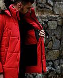 😜 Пуховик - мужская зимняя куртка-пуховик (цвет красный), фото 4