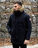 😜 Пуховик - мужская зимняя куртка-пуховик (цвет черный), фото 2