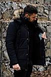 😜 Пуховик - мужская зимняя куртка-пуховик (цвет черный), фото 4