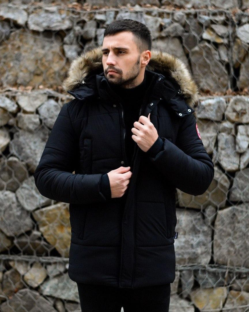 😜 Пуховик - мужская зимняя куртка-пуховик (цвет черный)