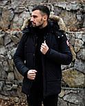 😜 Пуховик - мужская зимняя куртка-пуховик (цвет черный), фото 5