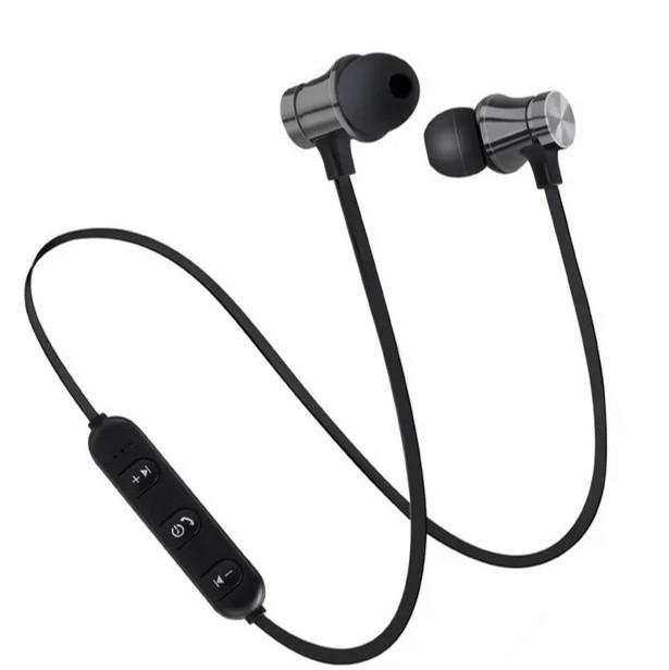 Беспроводные Bluetooth наушники гарнитура для спорта и отдыха Черные