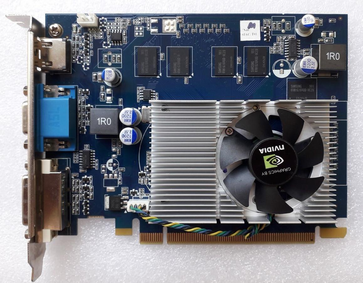 ВИДЕОКАРТА Pci-E GEFORCE GT120  на 1 GB DDR3  c HDMI и ГАРАНТИЕЙ ( видеоадаптер GT 120 1gb  )